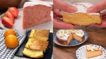 4 blended cake to try for breakfast!
