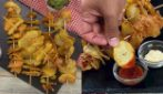 Potato skewers: light, crunchy and spicy!