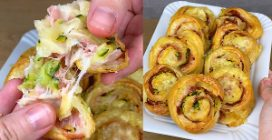Puff pastry pinwheels with zucchini and cheese: the result is just irresistible!