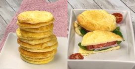 Cloud bread: a very soft and fluffy side dish!