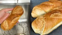 How to turn stale bread fresh again in less than 10 minutes!