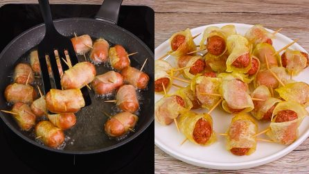 Wurstel with potatoes: the side dish that will drive the kids crazy!