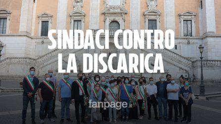 Nuova discarica per i rifiuti di Roma ad Albano: i sindaci della provincia manifestano contro Raggi