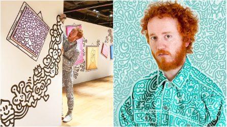 """I suoi """"scarabocchi"""" valgono milioni di dollari: l'arte ipnotica di Mr Doodle"""