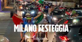 Euro 2020, l'Italia va in finale: la gioia dei tifosi tra le strade di Milano