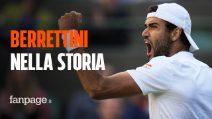 Matteo Berrettini è nella storia dello sport italiano, è in finale a Wimbledon!
