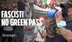 """I neofascisti si travestono da """"No green pass"""" e guidano la piazza di Roma contro il certificato vaccinale"""