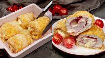 Chicken rolls: cheesy and very tasty!