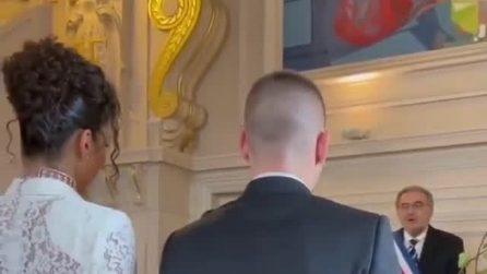 Marco Verratti e Jessica Aidi sposi, il momento del sì