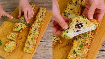 Cheese garlic bread: a simple and surprising appetizer!