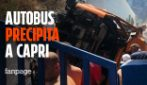 Capri, autobus precipita a Marina Grande: ci sono feriti, due sarebbero in condizioni gravi