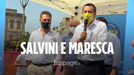 """L'abbraccio di Maresca e Salvini a Napoli: """"Centrodestra finalmente compatto"""""""