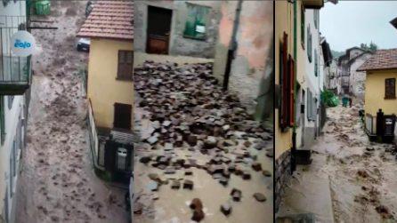 Schignano, paese devastato dal maltempo: strade distrutte dall'acqua