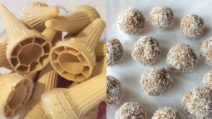 Coconut balls with ice cream cones: a delicious way to use them