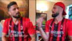Giroud parla con se stesso, il simpatico video del Milan su TikTok