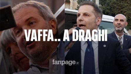 """I leghisti in piazza contro la Lega di governo. Manifestanti no Green Pass urlano: """"Draghi vaffa..."""""""