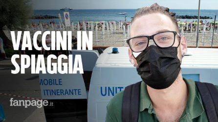 """Vaccini in spiaggia in Campania: """"Mia figlia minorenne si è voluta vaccinare per avere il green pass"""""""