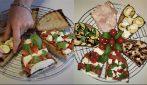 Bruschette saporite con verdure e mozzarella: l'idea fresca, veloce e saporita