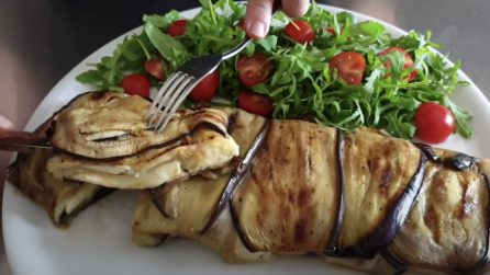 Stuffed eggplant roll: a complete meal rich of flavor