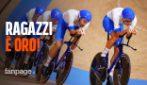 Italia mostruosa nell'inseguimento a squadre: medaglia d'oro e record del mondo!