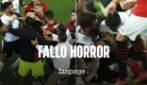 Fallo horror di Krunic su Gaya: rissa in campo durante Valencia-Milan