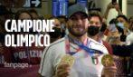"""Olimpiadi Tokyo, Jacobs accolto da star a Fiumicino: """"Un successo così neanche nei miei sogni"""""""