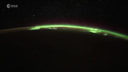 L'aurora boreale vista dallo spazio: immagini mozzafiato