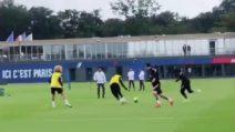 Psg, l'intesa Messi-Mbappé in allenamento è già forte: la giocata super tra i due