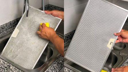 Come pulire il filtro della cappa del forno in modo facile e veloce con 1 ingrediente naturale!