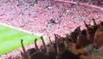 Cristiano Ronaldo fa impazzire l'Old Trafford: i tifosi festeggiano dopo il gol