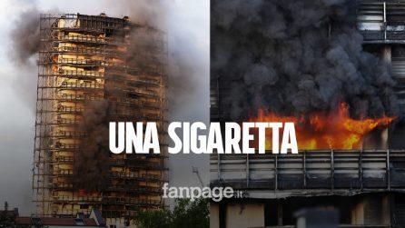 Incendio Torre dei Moro, sigaretta gettata tra i rifiuti possibile causa del rogo
