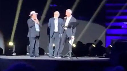Al Bano e Sgarbi insultati e fischiati dal pubblico nella serata dedicata a Franco Battiato (VIDEO)