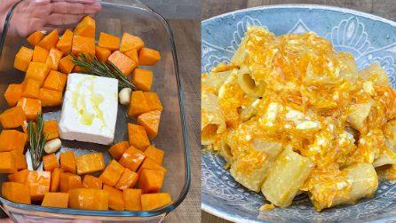 Pasta feta e zucca: il primo piatto facile, cremoso e saporito!