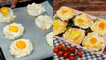 Cloud eggs: they are very quick to prepare!