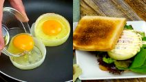 Onion rings with eggs: a simple and delicate recipe!