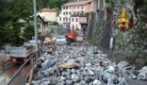 Maltempo nel comasco, a Blevio (Como) esonda il torrente Pertus