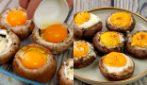 Funghi ripieni all'uovo: per una cena delicata ma sorprendente!