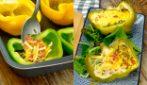 Peperoni ripieni all'uovo e formaggio: il piatto sfizioso che piacerà a tutti!