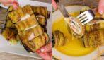 Spiedini di melanzane con prosciutto e formaggio: perfetti per una cena in famiglia!