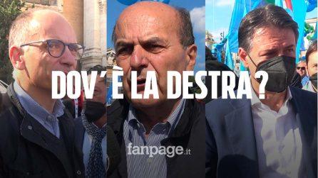 """Pd, M5S e sinistra in piazza con la Cgil: """"Salvini e Meloni sbagliano a non essere qui"""""""
