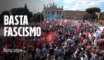 """Roma, le voci della piazza dei sindacati: """"Il fascismo non è un fantasma del passato"""""""