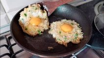 Potato and egg baskets: the easy and delicious meal